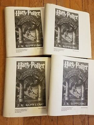 Harry Potter And The Sorcerers Stone Braille Book Complete Set Of 4