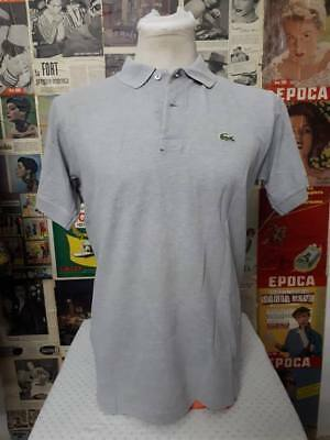 maglia polo  CHEMISE LACOSTE  vintage Shirt Jersey Tricot tgl 4
