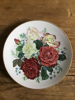 Franklin Mint Rosanne Sanders Plate Fragrant Glory Majesty Of Roses