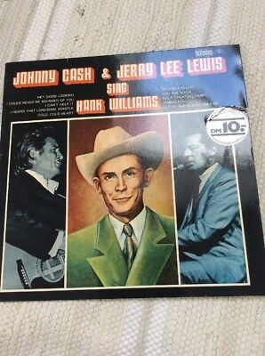 LP *Country* JOHNNY CASH & JERRY LEE LEWIS - Sing Hank Williams