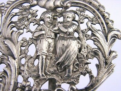 STUNNING LARGE SWEDISH SOLID SILVER BELT BUCKLE NURSES BUCKLE 1906 ANTIQUE 60g