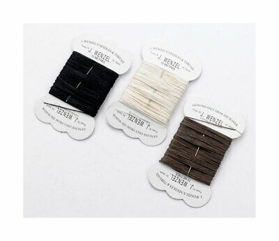 Wenzel Strong Plaiting Thread & Needle Horse Black Brown White