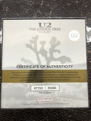 LIMITED EDITION U2 Joshua Tree 2017 Tour VIP Program Book w/Harmonica #07153/35k