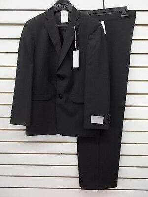 Boys Geoffrey Beene $90.50 2pc Black Pin Striped Suit Size 16 - 20