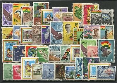 "GHANA  -  40  Stamps  ""  ALL  DIFFERENT  "" ."