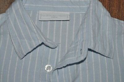 The Little White Company Boys Collared Shirt Blue Kids 2-3 Years Cotton Linen