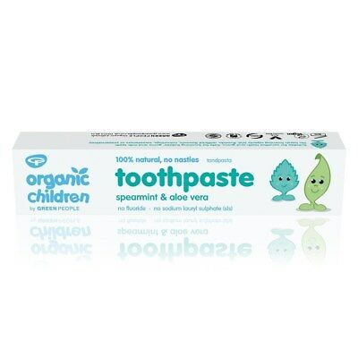 3 Pack Of Green People Children Spearmint & Aloe Vera Toothpaste (50ml) ECOCERT