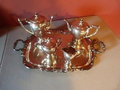 Reed & Barton Sterling Silver Pointed Antique Coffee Set