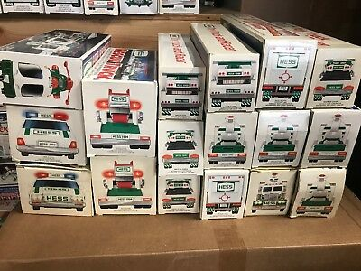 hess toy truck lot Of 17 Trucks