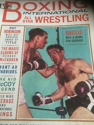 Boxing International All Star Wrestling Magazine April 1965 Basilio Kid McCoy