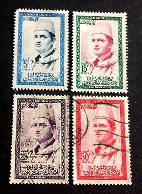 4 nice old stamps Morocco Maroc