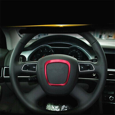 Metal Car Steering Wheel Sticer Decal Trim Special For Audi A3 A4 B7 B8 06-12