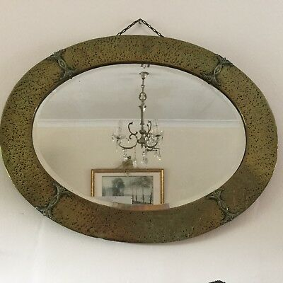 Copper Arts & Crafts Overmantle Mirror