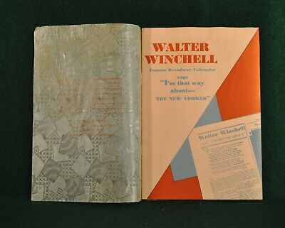 The New Yorker Hotel Advertising brochure inspired by Walter Winchell