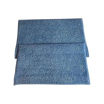 2 HAAN SI-25 Washable Micro-Fiber Blue Steam Mop Pads fits HAAN SI-25, SI-40,