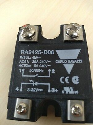 Carlo Gavazzi Ra2425-D06 Solid State Relay 25A 240V