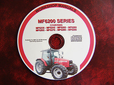 Massey Ferguson  Mf 6235 6245 6255 6260 6265 6270 6280 Workshop Repair Manual