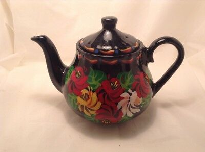 Bargeware Style Hand Painted Teapot