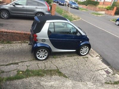 Smart for two Passion Cabrolet, 698cc Petrol 38k miles 2006  55 reg. 68mpg