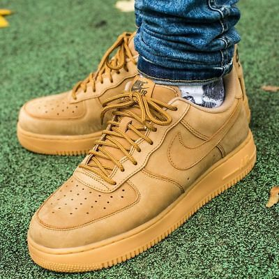 "NEW Men's Nike Air Force 1 Low ""Flax"" AA4061-200 DS Wheat Premium"