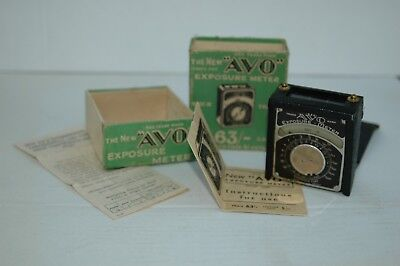 Vintage AVO Exposure Meter with Original Box & instructions