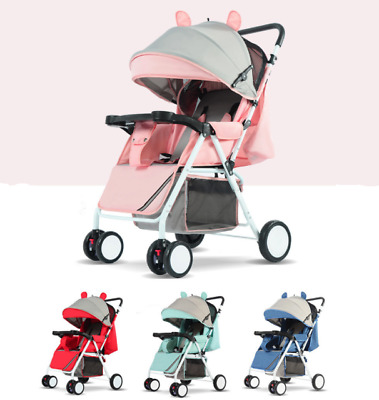 Lightweight Mini Pushchair Portable Baby Stroller Travel Infant Carriage Lovely