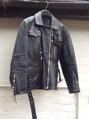 Ladies 12 Vintage Tassled Leather Motorcycle Jacket Hand Made At The Ranch House