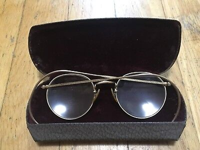 Bausch & Lomb Arco Thin Etched Gold Glasses Frames 1/10 12K GF B&L