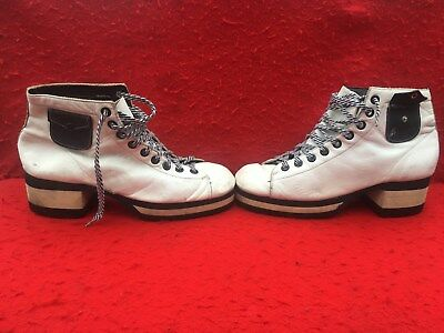 VINTAGE DISCO TWO TONE PLATFORM SHOES w/ SIDE POCKETS 1970s ?? RETRO HIGH HEEL
