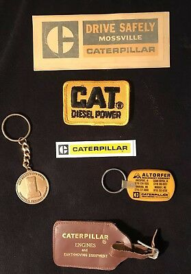 Caterpillar Tractor Lot Of 6 Vintage Novelity Items.