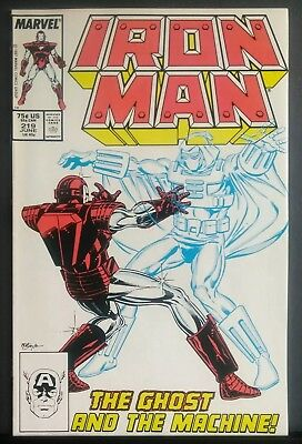 Iron Man #219 Vf/nm 9.0 Beautiful Copy 1St Appearance Of The Ghost Antman Movie