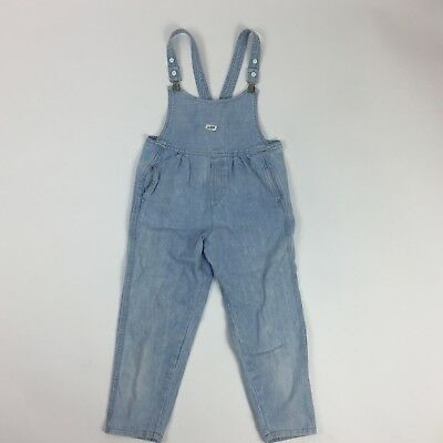 Vintage Guess Baby 90's Girl Denim Bib Overalls 6 X 6T Light Wash Jean Bubble K3