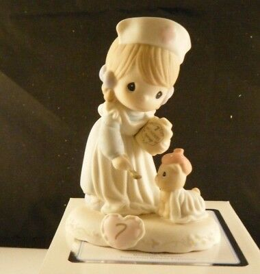 "Precious Moments ""Growing In Grace"" Figurine Age 7 Brunette 163740B NEW"