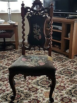 Antique nursing chair. Original Tapestry