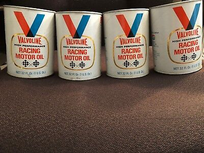 Vintage Valvoline Racing Motor Oil/Full Cans of Oil