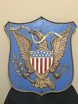 """Great Seal of the United States Plaque Shield 17"""" Cast Iron"""