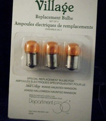 Retired D56 Replacement Bulb For Haunted Mansion  56.52708  Amber set/3 NEW