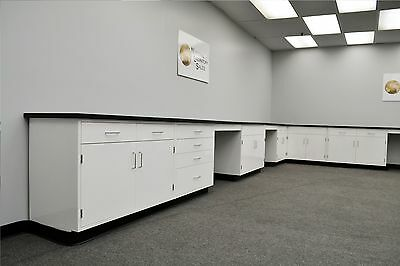 22' x 15' Base Fisher American Laboratory Cabinets- IN STOCK NEW