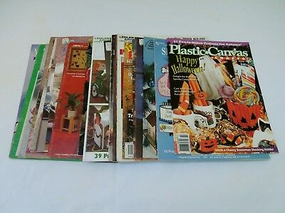 Lot of 22 Vintage Plastic Canvas Patterns Books: Christmas Halloween Kitchen