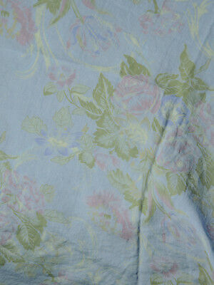 "NEW Bella Notte Floral Linen Fabric Blue Violet Green - 3.5 Yards (W:56"")"