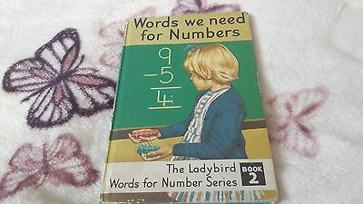 Ladybird Book, Words We Need For Numbers, Book 2, 1970's, 24P, Tally No 360.