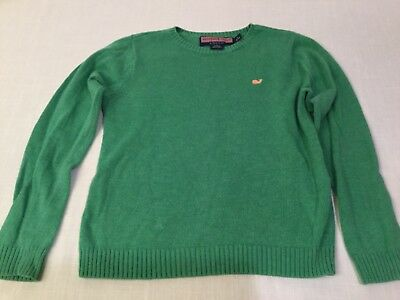 Boys VINEYARD VINES SIZE S SMALL 8 10 Kelly green cotton sweater gently worn nce