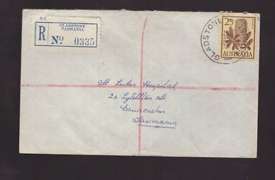 Tasmania Gladstone registered 1965 cover to Launceston see scans x 2