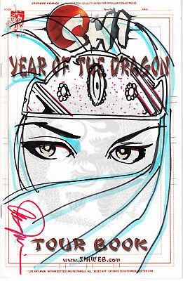 Shi Year of the Dragon Tour Book (Crusade, 2000) - Signed & Customized Cover