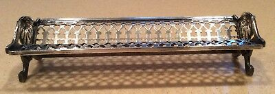 "Silver Reed and Barton Cracker Tray so nice"" silver over copper"