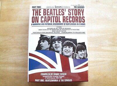 Beatles Story On Capitol Records Bruce Spizer 2000 (Hardcover Slipcase) SIGNED