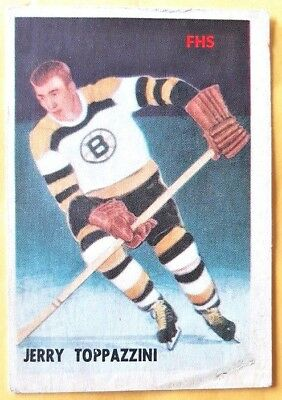1953-54 Parkhurst #98 Jerry Toppazzini ROOKIE CARD Bruins**FREE COMBINED SHIP*