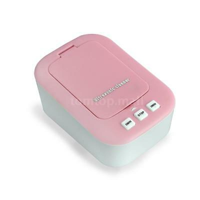 Mini Portable Ultrasonic Contact Lens Cleaner Pink K9R4