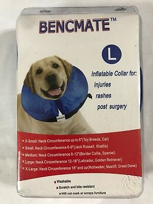 Bencmate Protective Inflatable Collar for Dogs and Cats Size L Blue Brand New