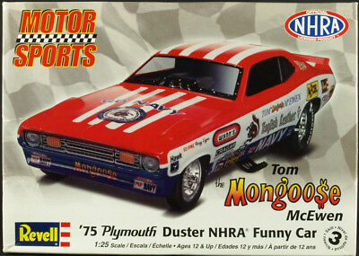 Revell Tom Mongoose McEwen '75 Plymoulth Duster Funny Car 1/25 scale